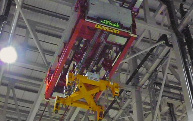 'Red brick', a Test-Piece Transportation Hoist (TPTH) at Rolls Royce's engine test facility