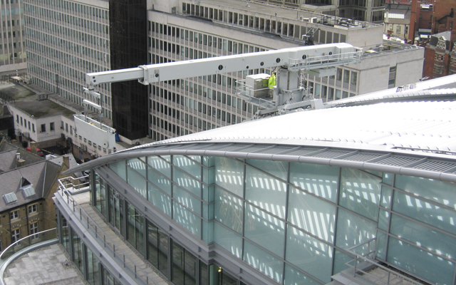 Cardinal Place's building maintenance unit in use