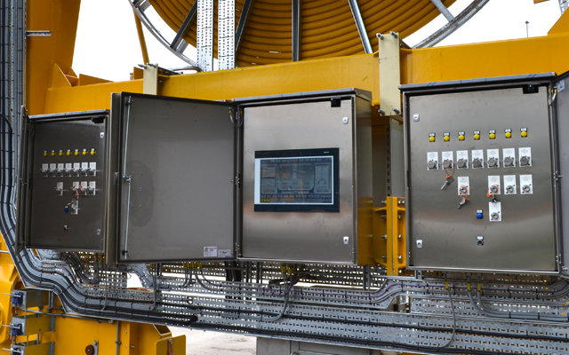 Touch screen and panels for safe operation of nuclear cranes