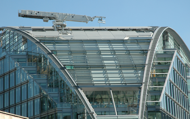 Bespoke building maintenance unit (BMU) for Cardinal Place