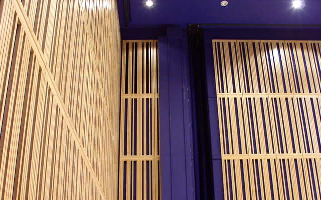 Sound absorbing acoustic drapes in the Sage theatre