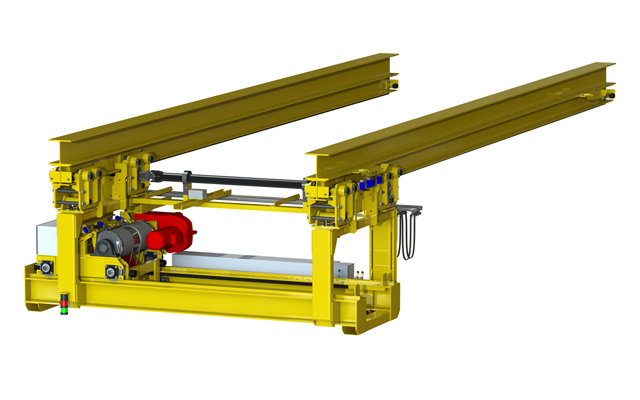 Rendering of high hat crane for HMS Queen Elizabeth